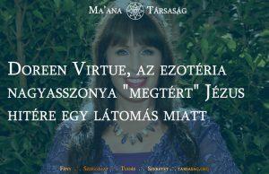 """Doreen Virtue, az ezotéria közkedvelt nagyasszonya """"megtért"""" Jézus hitére egy látomás miatt"""