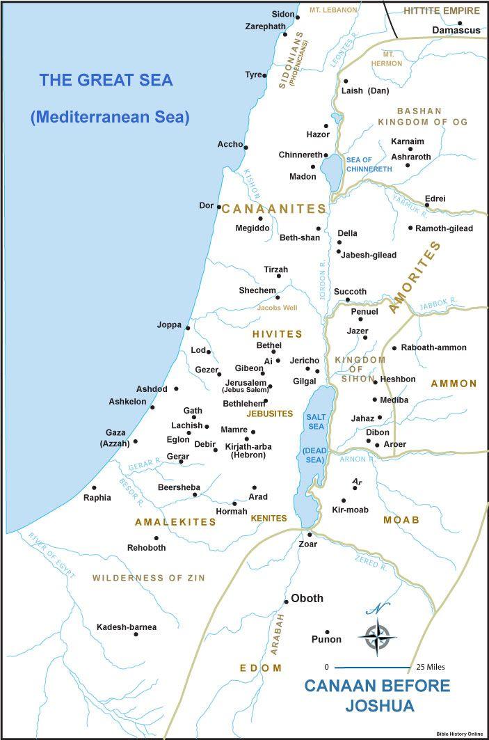Kánaán városállamai a bronzkorban. Kép forrása