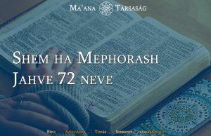 Shem ha Mephorash - Jahve 72 neve
